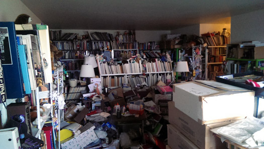 We removed and recycled 6.4 tonnes of books and paper from this one bedroom apartment in North Vancouver, BC!