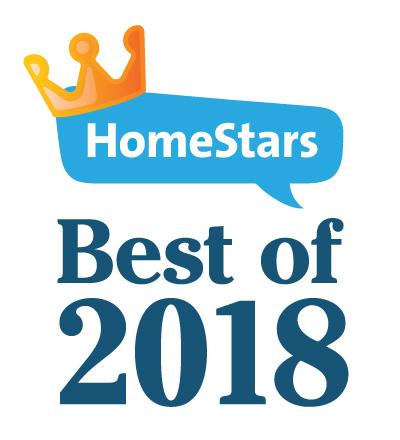 Our HomeStars Best Of Awards Badge for 2018