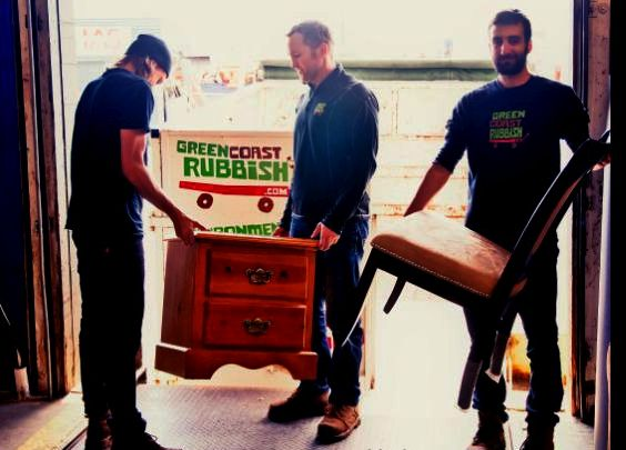 The Green Coast team donating furniture to North Vancouver's Habitat for Humanity